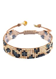 MISHKY Panthera Beaded Bracelet - Gold & Blue