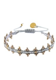 MISHKY Shanty Beaded Bracelet - Grey