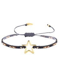 MISHKY Melted Star Beaded Bracelet - Black