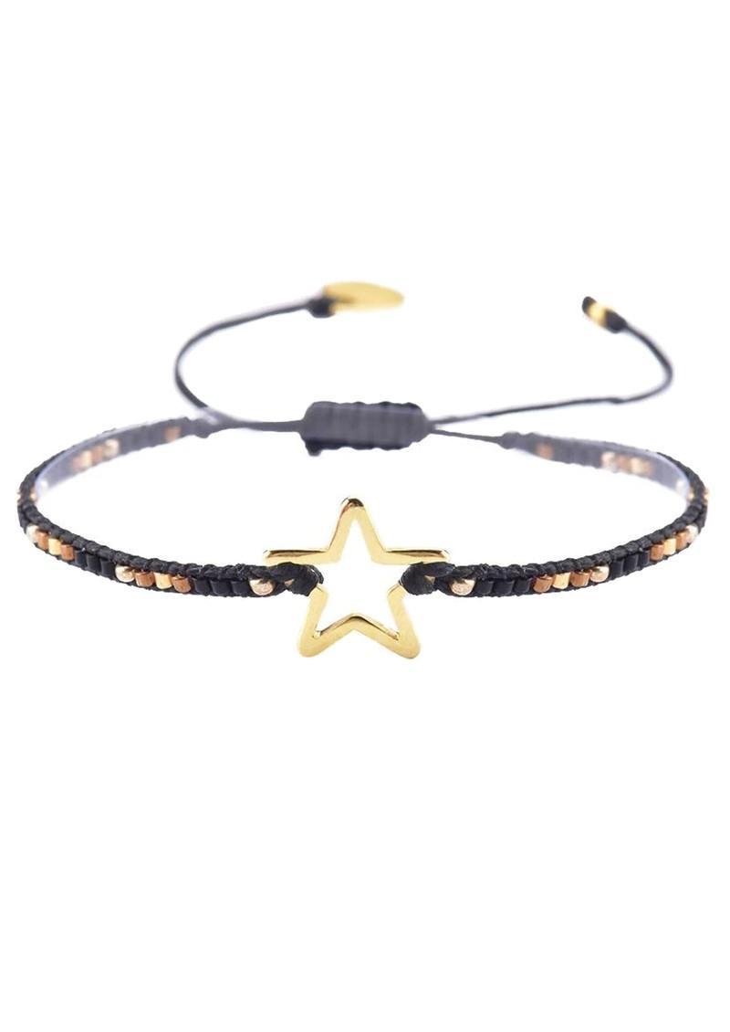 MISHKY Melted Star Beaded Bracelet - Black main image