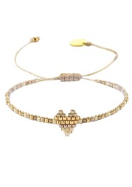 MISHKY Heartsy Row Beaded Bracelet - Natural