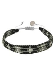 MISHKY Track Beaded Bracelet - Black