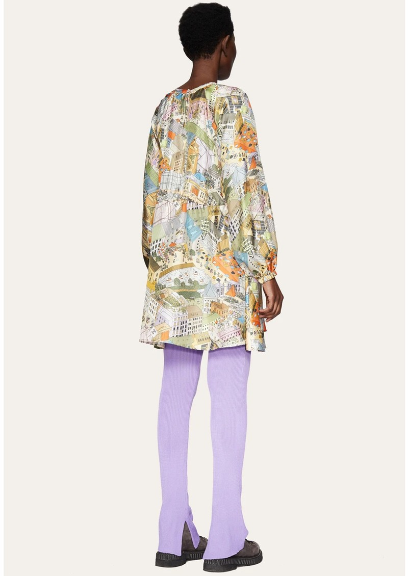STINE GOYA Coco Silk Dress - City main image