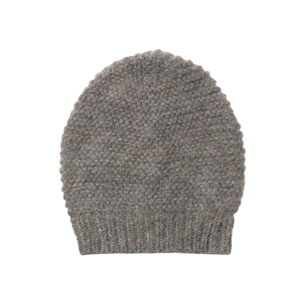 Jade Wool Mix Beanie Hat - Grey Melange