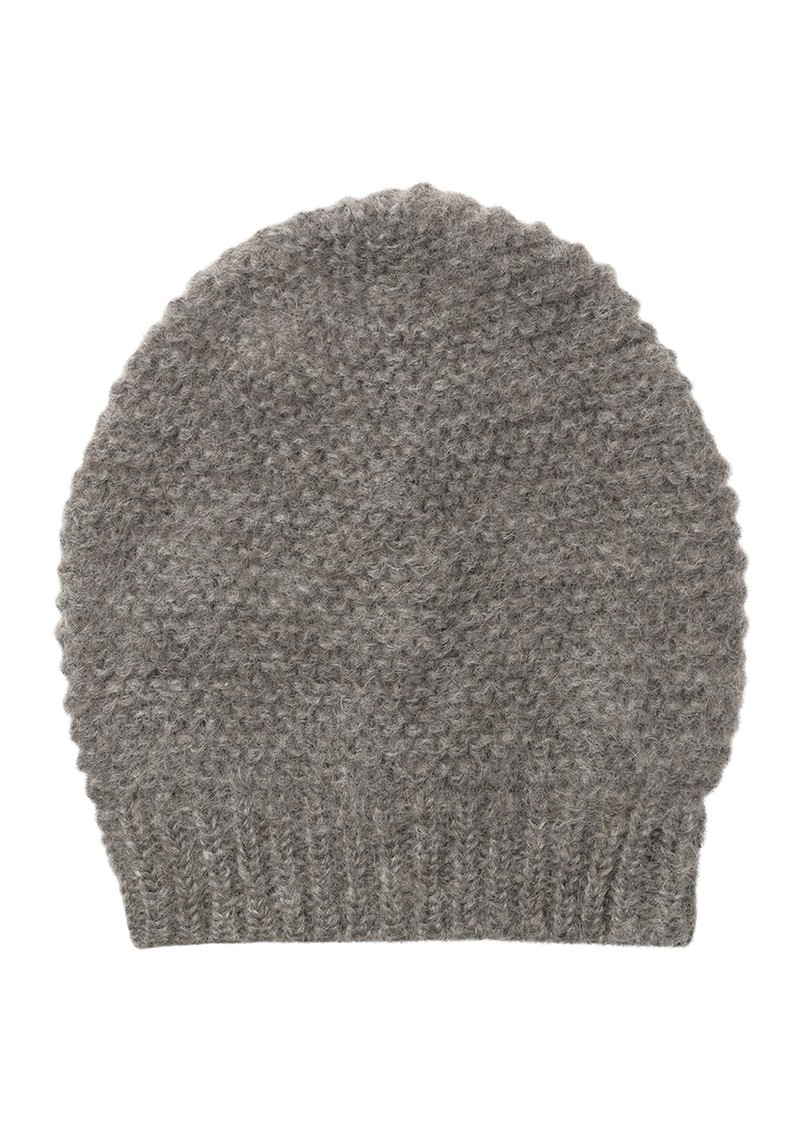 Jade Wool Mix Beanie Hat - Grey Melange main image
