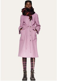 STINE GOYA Margret Wool Mix Coat - Mauve