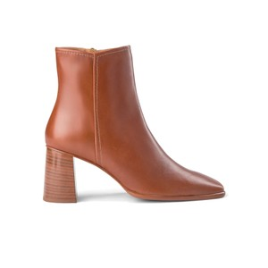 Agata Leather Ankle Boots - Tan