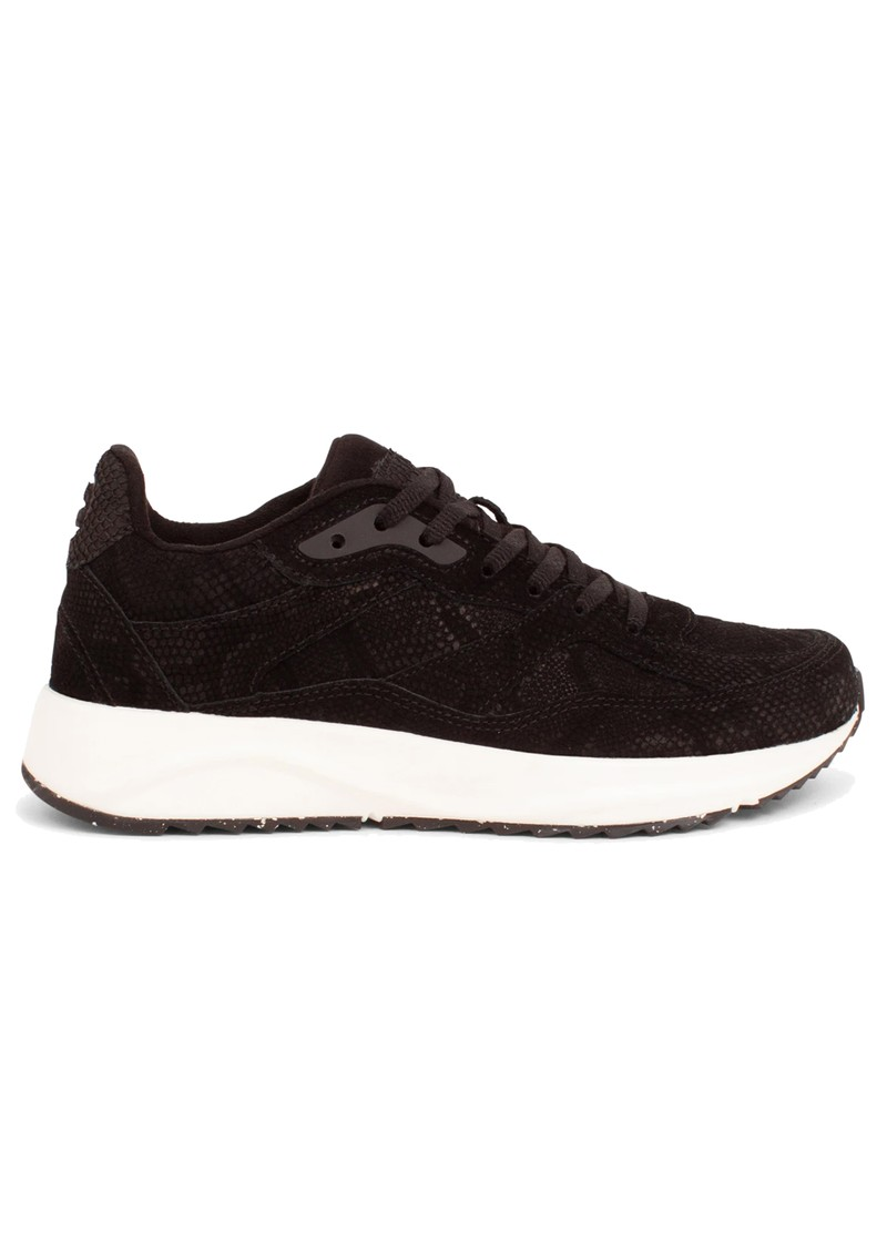 WODEN Sophie Snake Suede II Trainers - Black main image