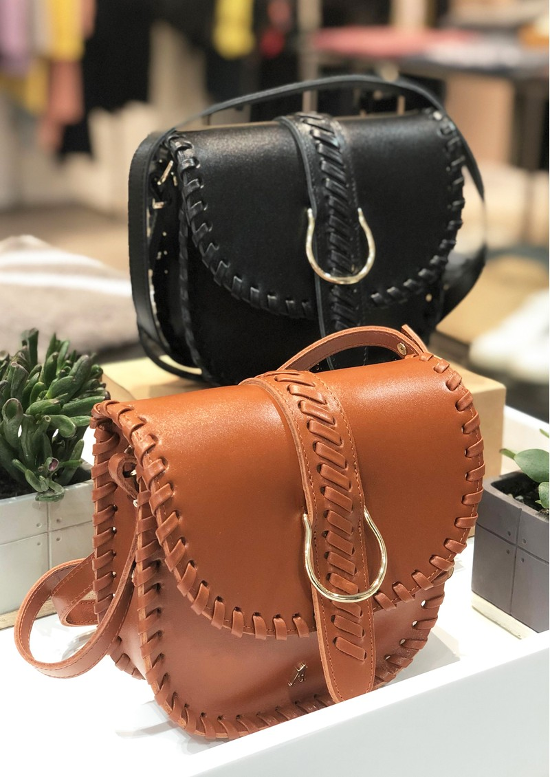 CRAIE Mini Luna Stitched Cross Body Bag - Choco main image