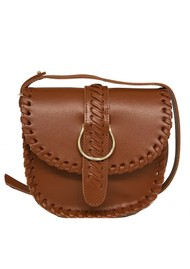 CRAIE Mini Luna Stitched Cross Body Bag - Choco