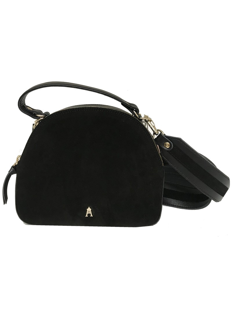 Courbe Daim Suede & Leather Bag - Noir main image