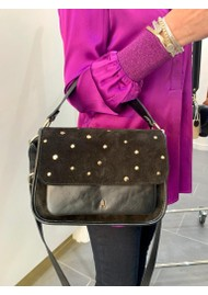 CRAIE Standard Stud Suede & Leather Bag - Noir