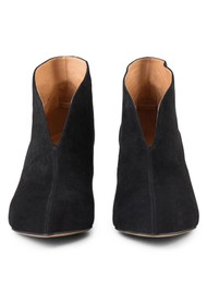 SHOE THE BEAR Valentine Low Cut Suede Heel Shoe Boot - Black