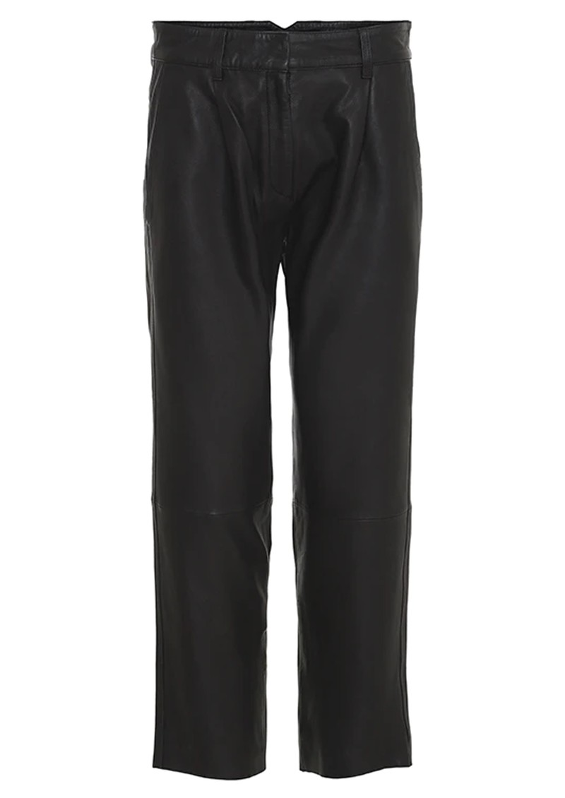 Iris Leather Trousers - Black main image