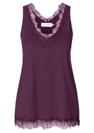 Rosemunde Simple Lace Top - Potent Purple