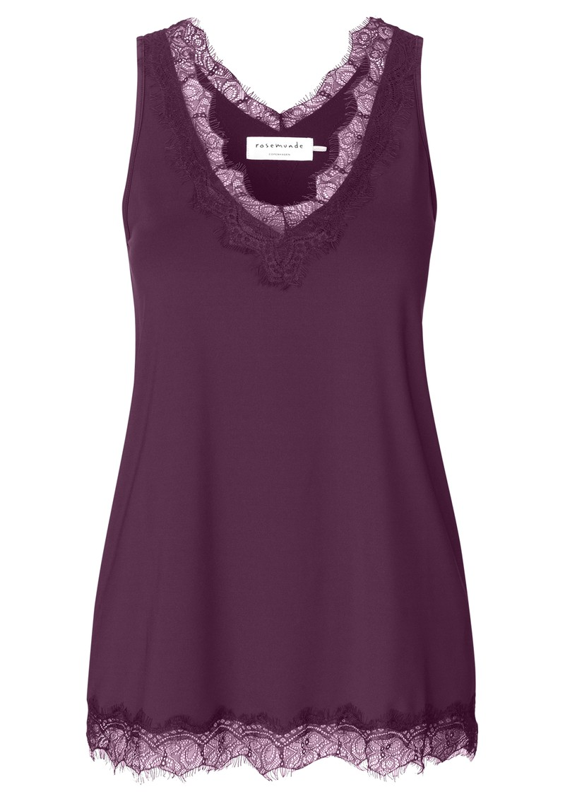 Rosemunde Simple Lace Top - Potent Purple main image