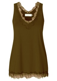 Rosemunde Simple Lace Top - Military Olive