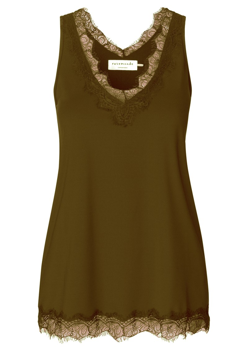 Rosemunde Simple Lace Top - Military Olive main image