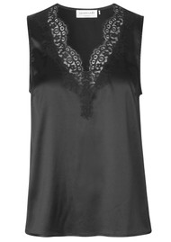 Rosemunde Jade Lace Silk Top - Black