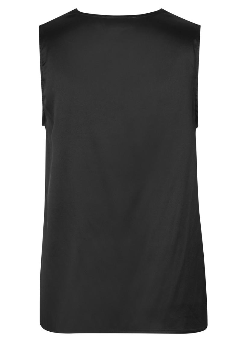 Rosemunde Jade Lace Silk Top - Black main image