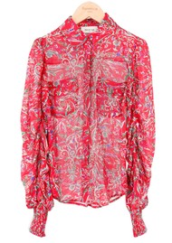 BERENICE Candy Printed Shirt - Red Palace
