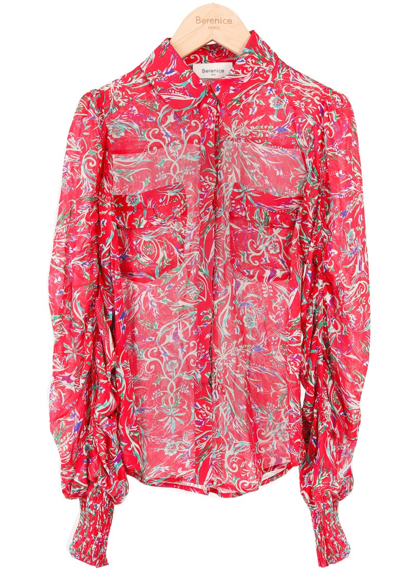 BERENICE Candy Printed Shirt - Red Palace main image
