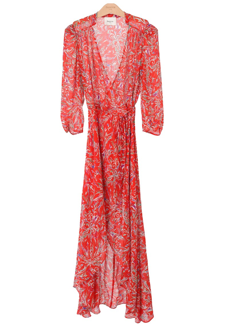 BERENICE Sonia Printed Wrap Dress - Red Palace main image