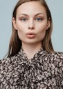 MAYLA Iris Tie Blouse - Flower Print