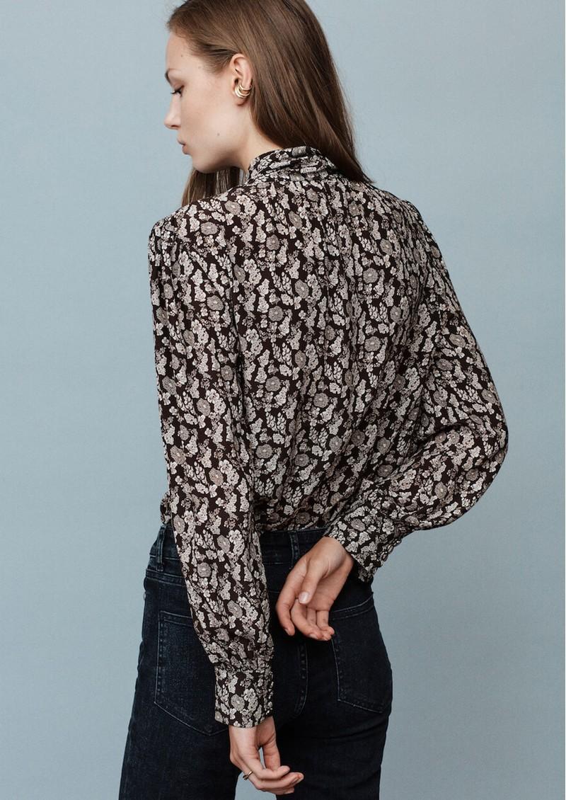 MAYLA Iris Tie Blouse - Flower Print main image