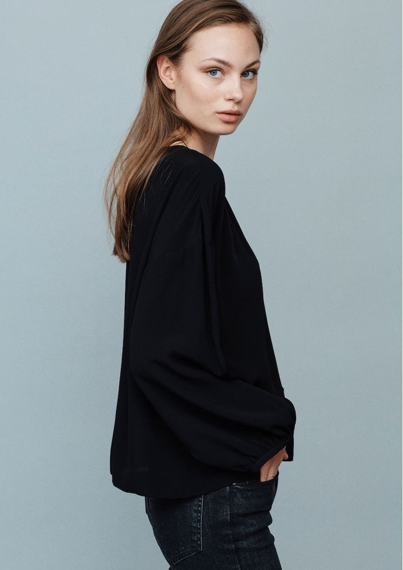 MAYLA Bay Draped Blouse - Black main image