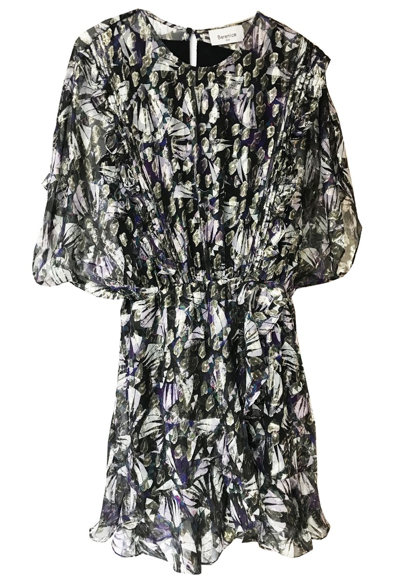 BERENICE Really Silk Dress - Black Dynastic Print main image