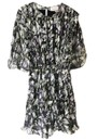 BERENICE Really Silk Dress - Black Dynastic Print