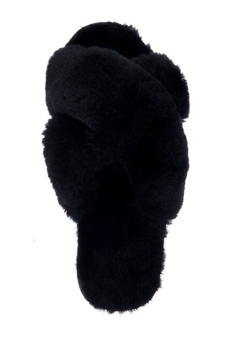 EMU Mayberry Crossover Sheepskin Slipper Slide - Black main image