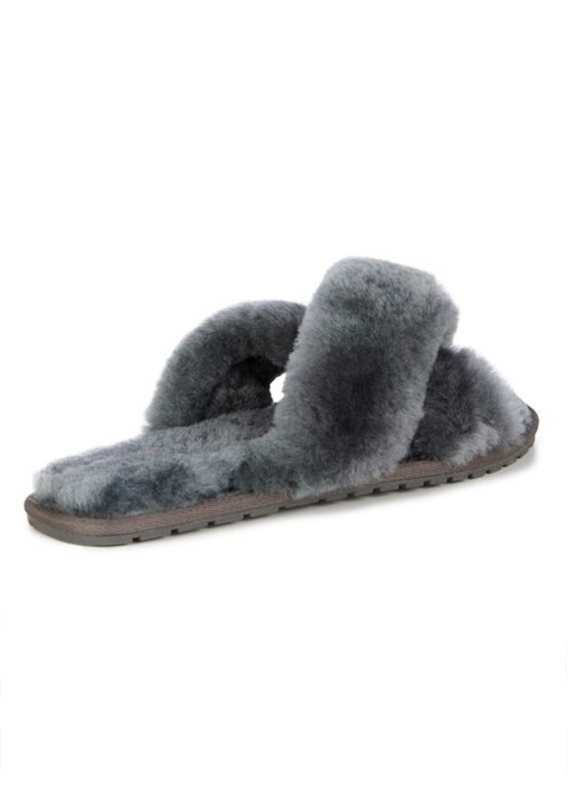 EMU Mayberry Crossover Sheepskin Slipper Slide - Charcoal main image