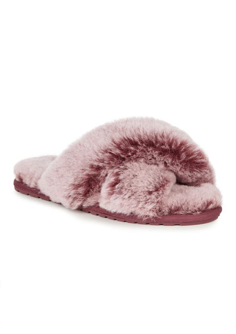 EMU Mayberry Frost Crossover Sheepskin Slipper Slide - Burnt Rust main image