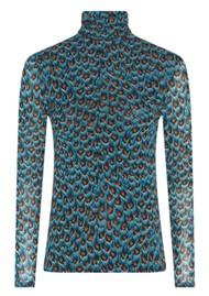 FABIENNE CHAPOT Jane Mesh Top - Peacock Party Blue