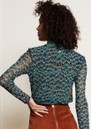 Jane Mesh Top - Peacock Party Blue additional image