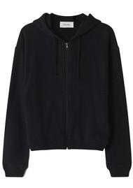 American Vintage Fobye Zip Hoodie Sweatshirt - Vintage Black