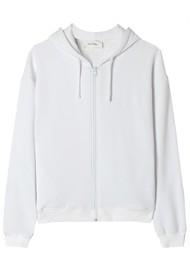 American Vintage Fobye Zip Hoodie Sweatshirt - White