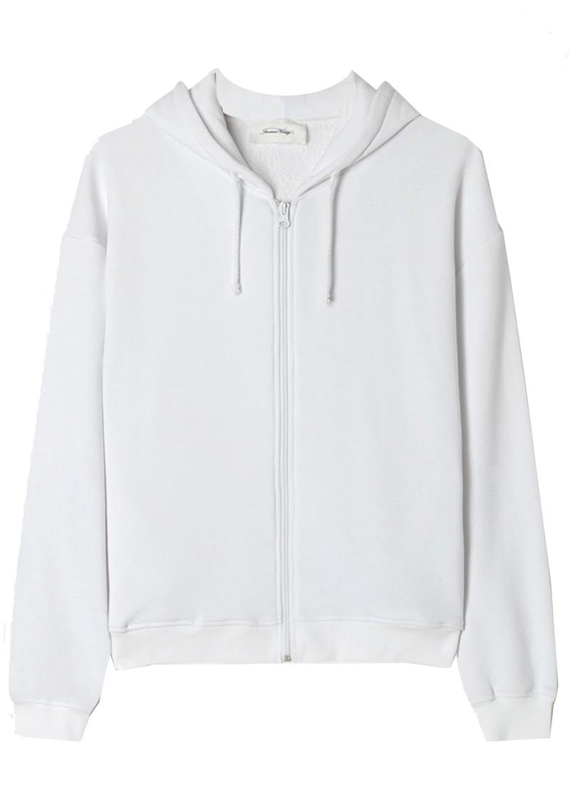 American Vintage Fobye Zip Hoodie Sweatshirt - White main image
