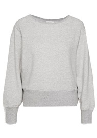 American Vintage Neaford Cotton Sweatshirt - Grey Melange