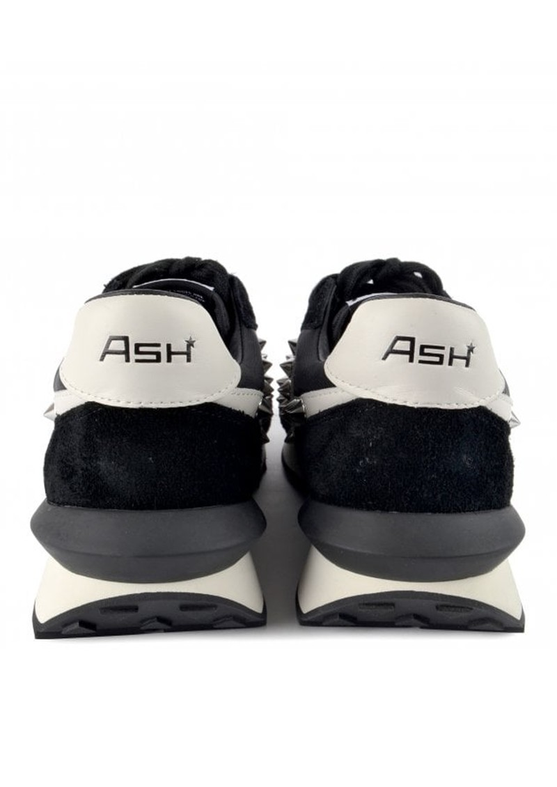 Ash Spider Studs Eco Suede Trainers - Black  main image