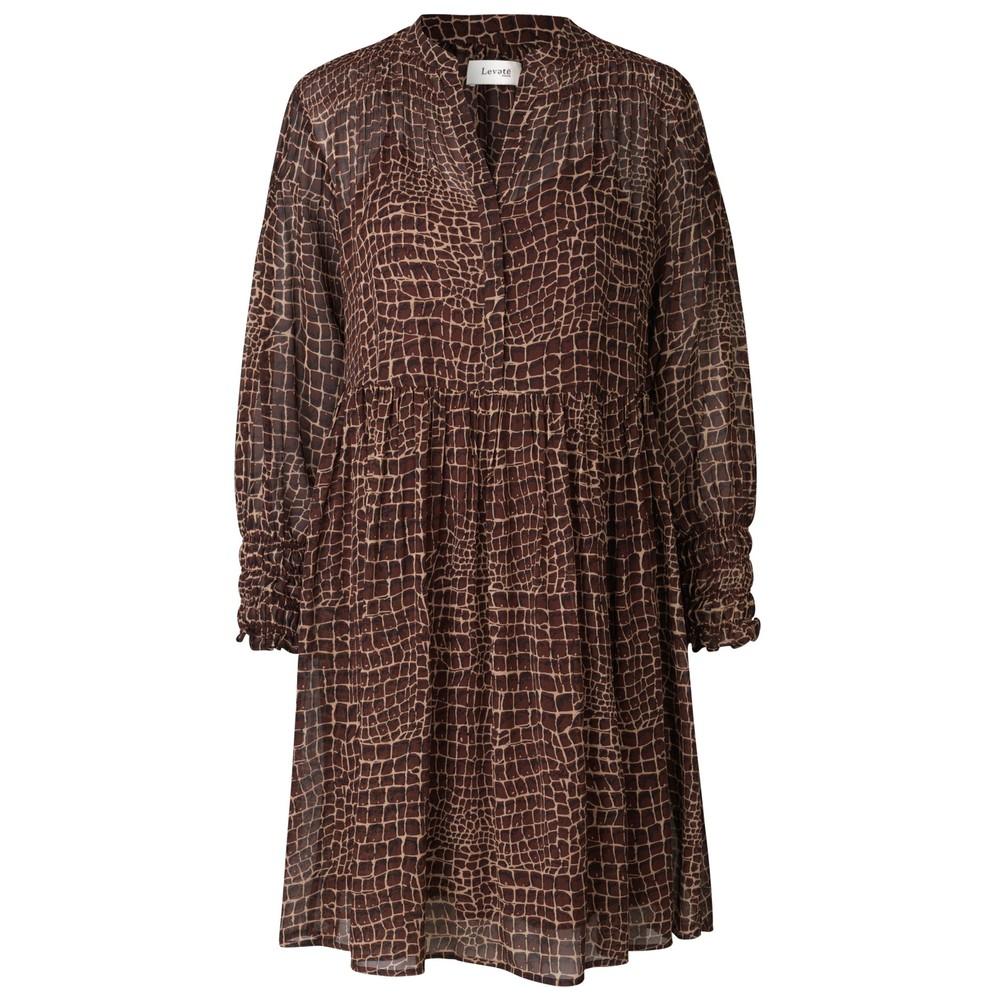 Kira 3 Dress - Brown Croc