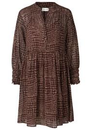 LEVETE ROOM Kira 3 Dress - Brown Croc