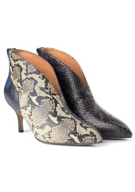 SHOE THE BEAR Valentine Low Cut Snake Heel Shoe Boot - Mix