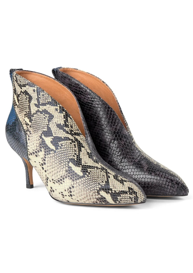 SHOE THE BEAR Valentine Low Cut Snake Heel Shoe Boot - Mix main image