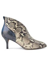 SHOE THE BEAR Valentine Low Cut Snake Heel Shoe Boot - Mix