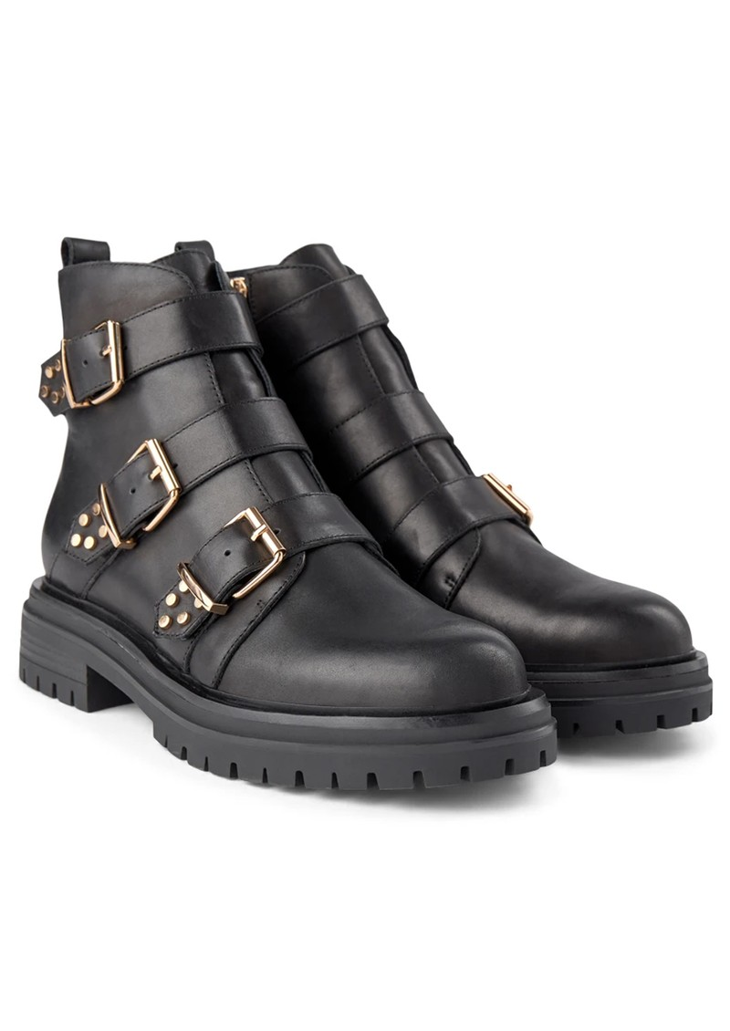 SHOE THE BEAR Franka Strappy Leather Boot - Black main image
