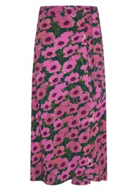 FABIENNE CHAPOT Bobo Printed Wrap Skirt - Purple Poppies