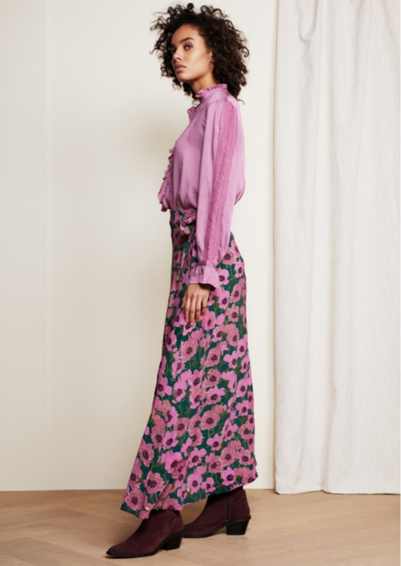 FABIENNE CHAPOT Bobo Printed Wrap Skirt - Purple Poppies main image